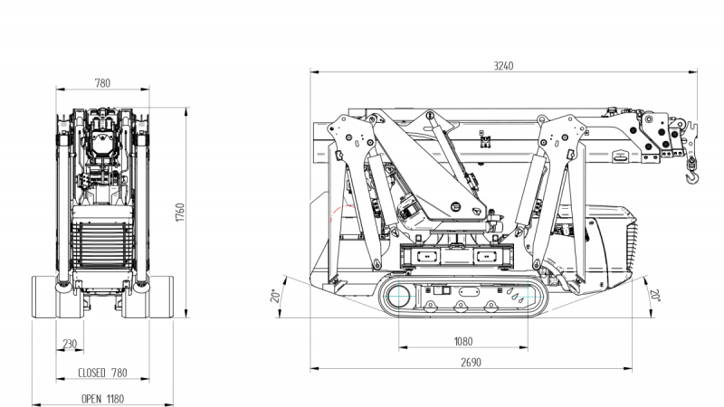 Bg Lift M250 Minihijskraan